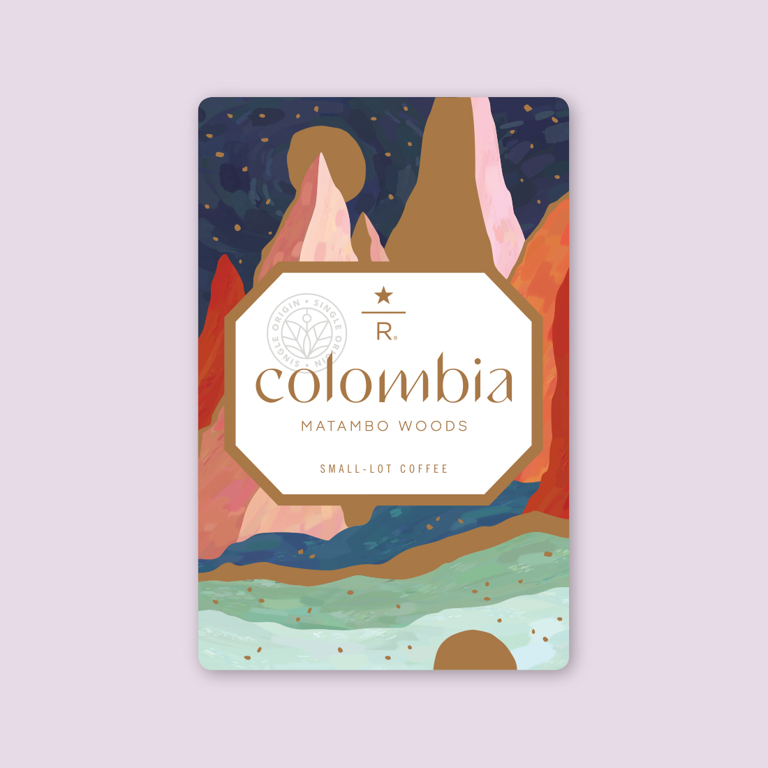 Coffee card illustration for COLOMBIA MATAMBO WOODS