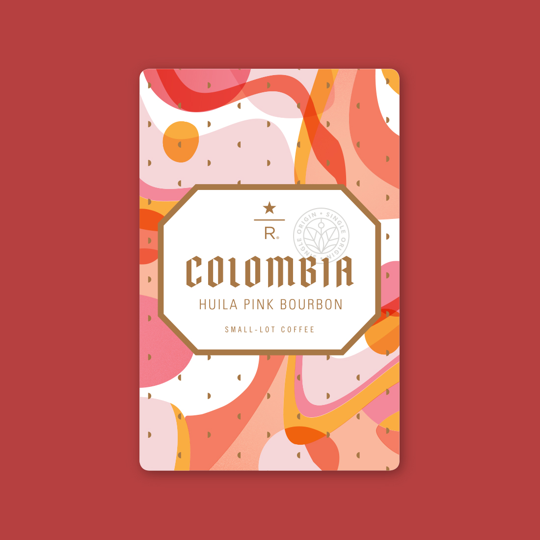 Coffee card illustration for COLOMBIA HUILA PINK BOURBON