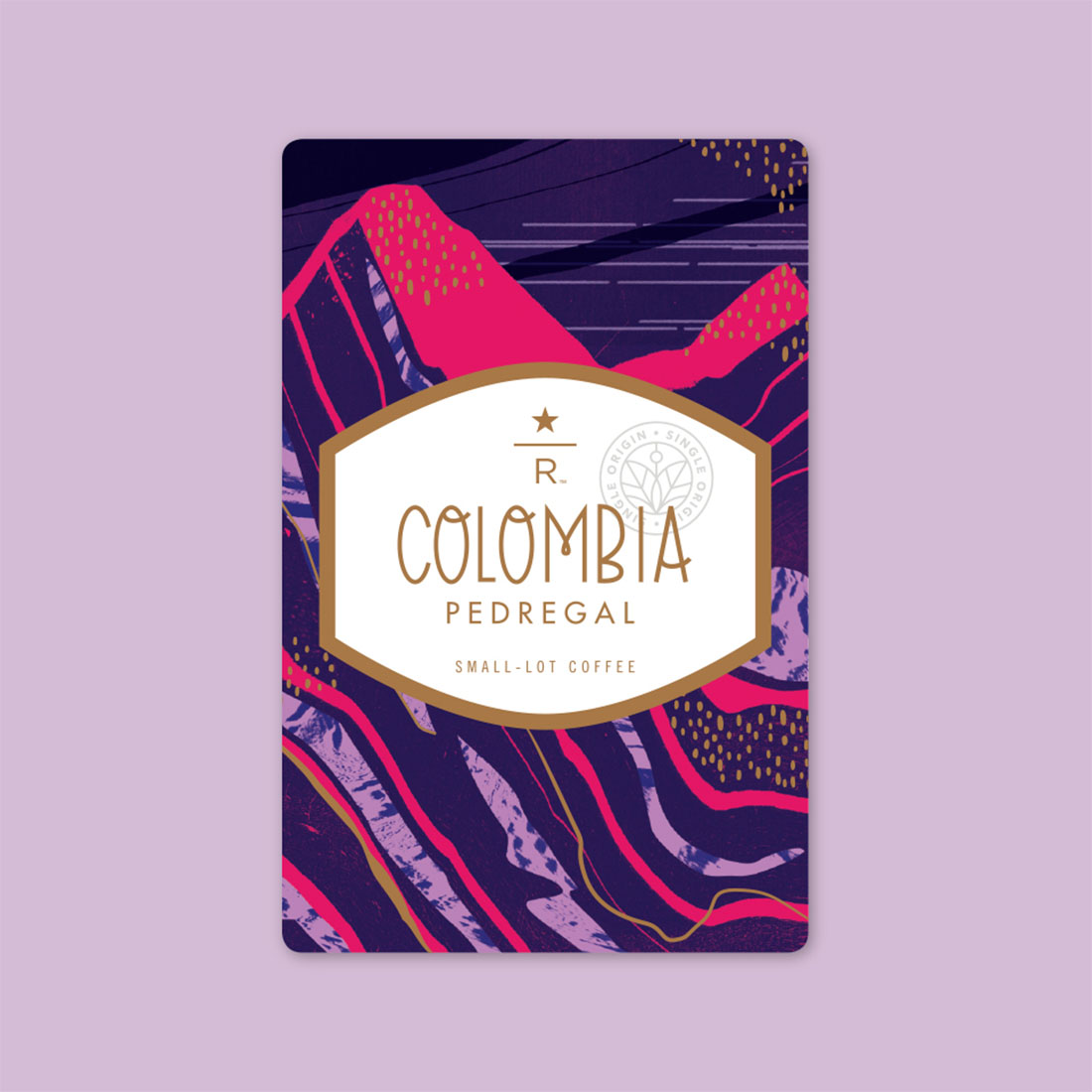 Coffee card illustration for COLOMBIA PEDREGAL