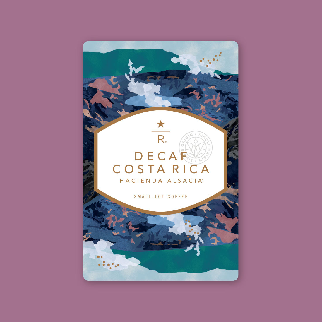 Coffee card illustration for DECAF COSTA RICA HACIENDA ALSACIA™