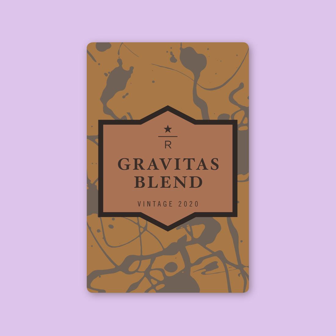 Coffee card illustration for GRAVITAS® BLEND VINTAGE 2020