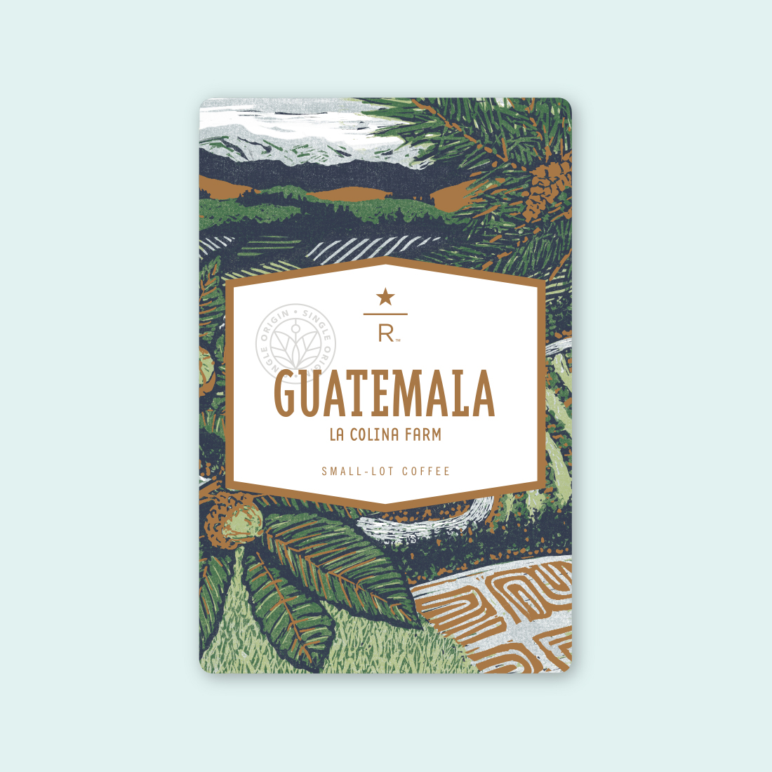 Coffee card illustration for GUATEMALA LA COLINA FARM