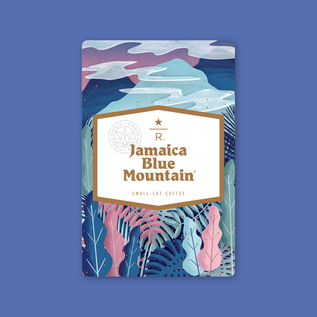 Coffee card illustration for JAMAICA BLUE MOUNTAIN®