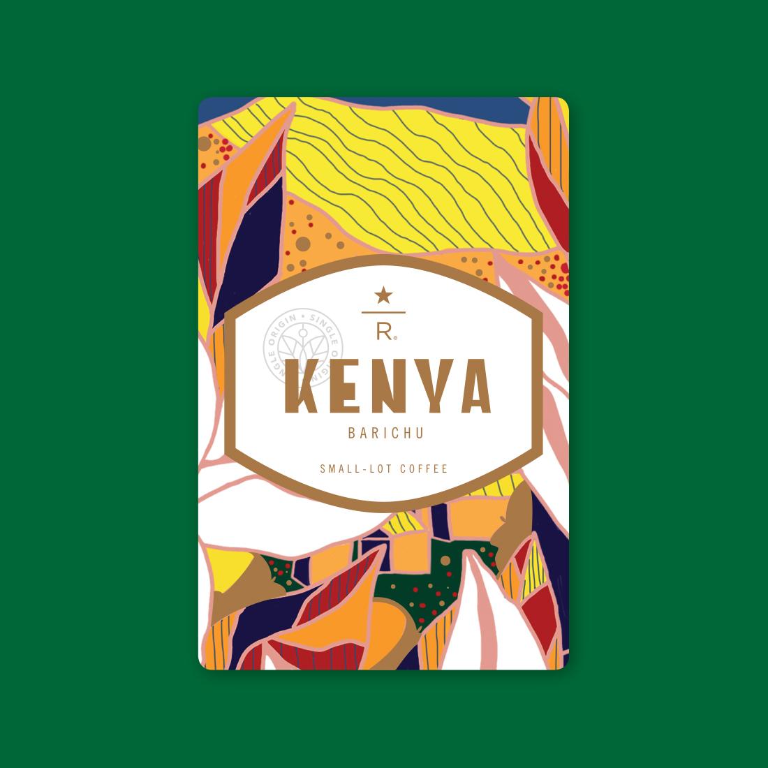 Coffee card illustration for KENYA BARICHU