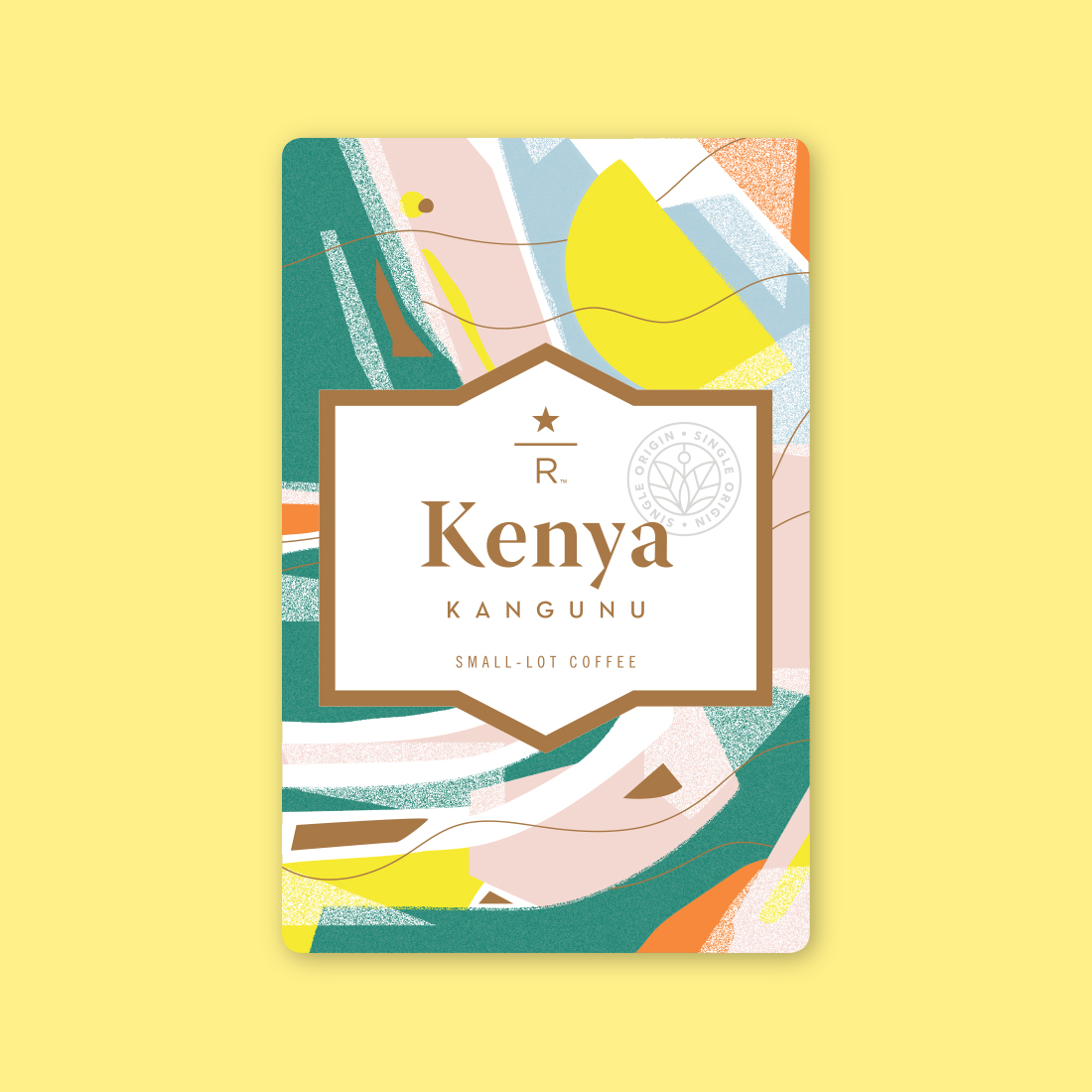 Coffee card illustration for KENYA KANGUNU