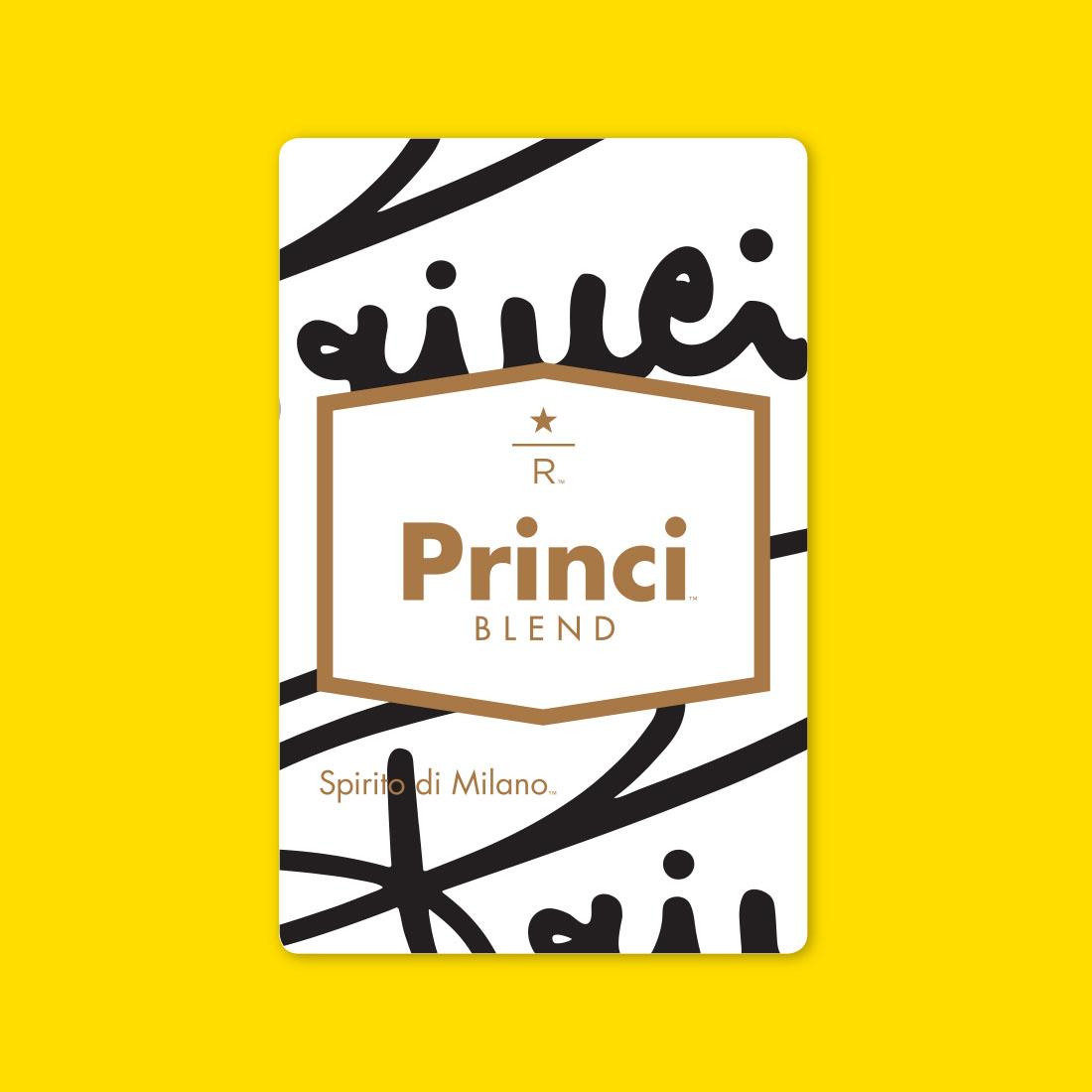 Coffee card illustration for PRINCI™ BLEND