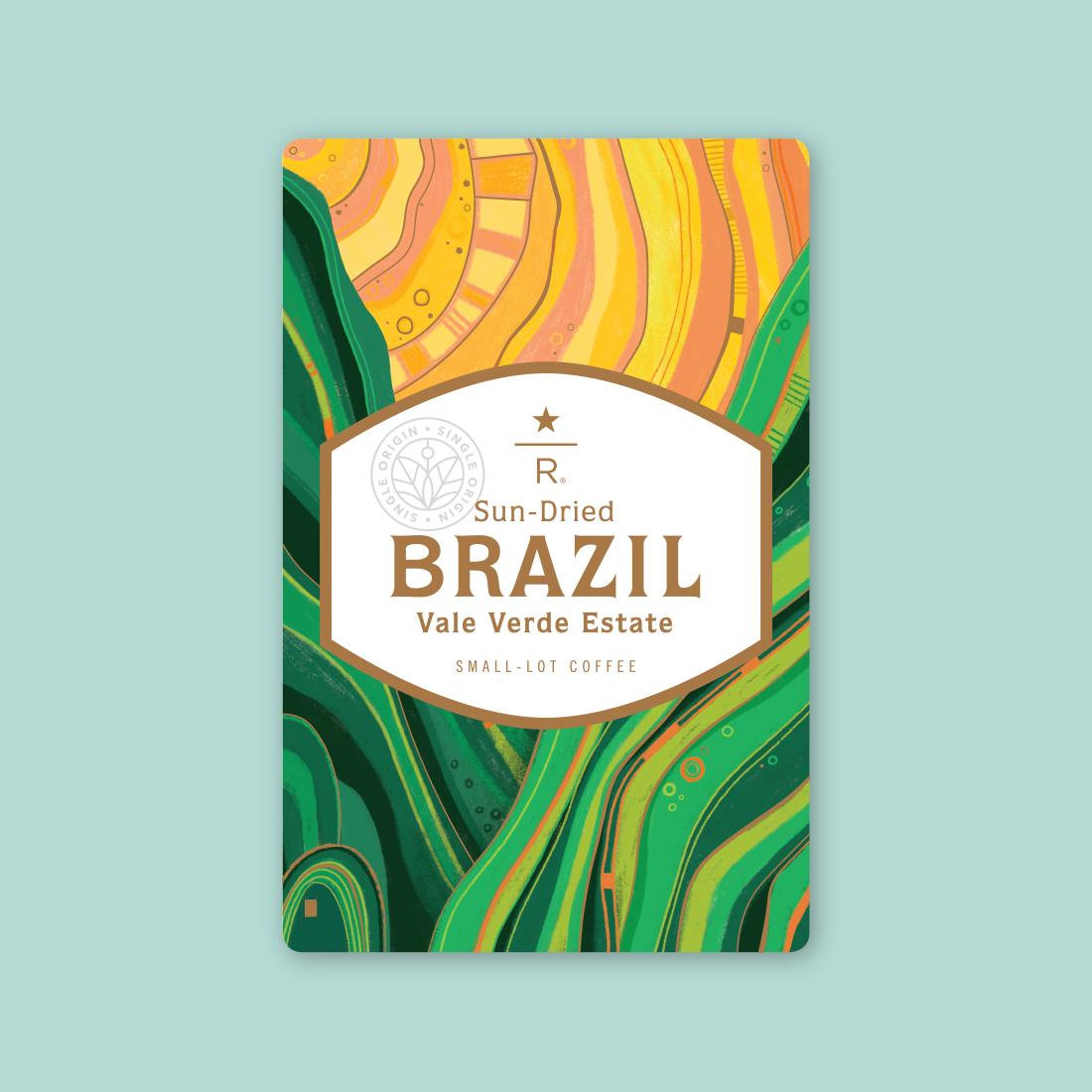 Coffee card illustration for SUN-DRIED BRAZIL VALE VERDE ESTATE