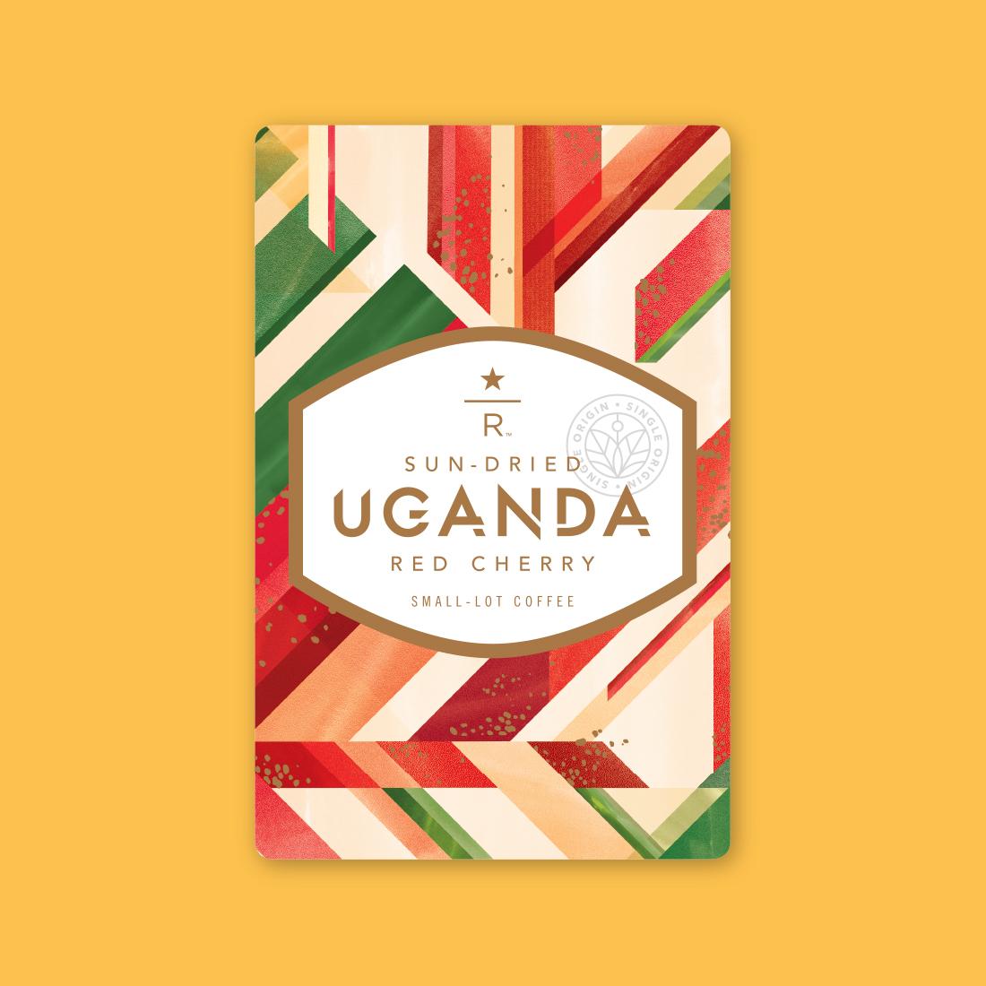 Coffee card illustration for SUN-DRIED UGANDA RED CHERRY