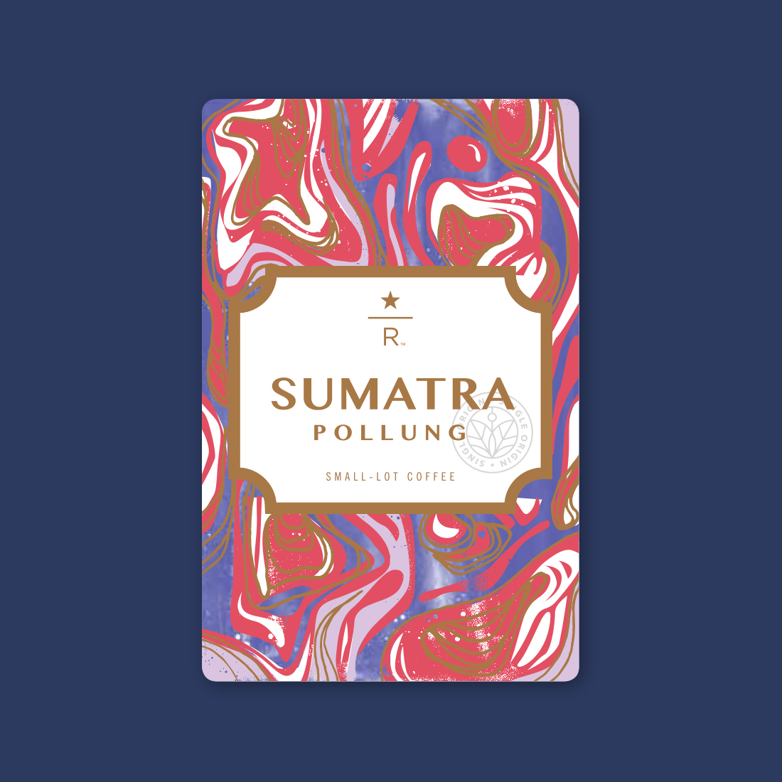 Coffee card illustration for SUMATRA POLLUNG